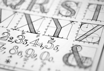 custom font type letter design