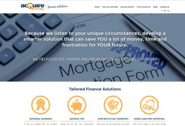 Finance Mortgage Web Design