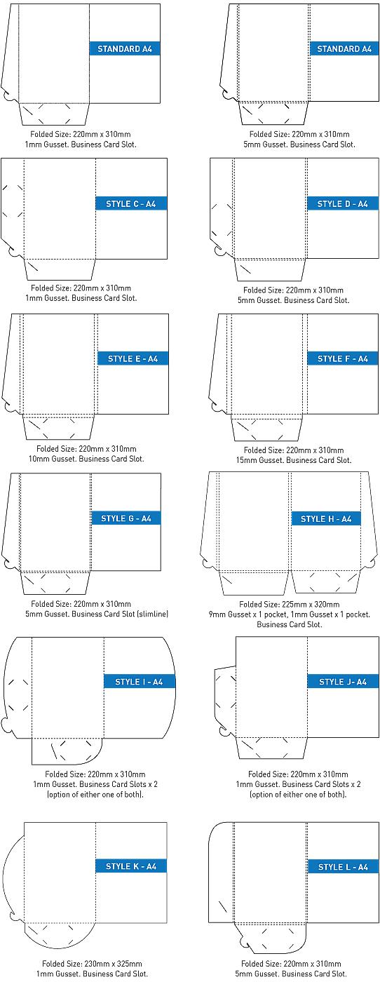 Presentation folder types