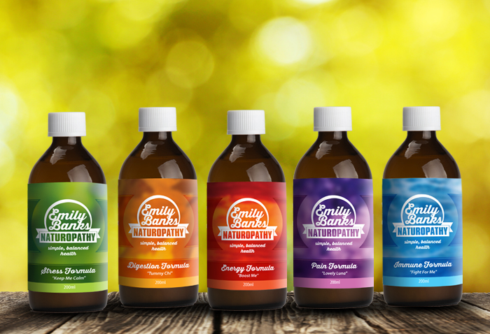 naturopath logo label packaging bottle design.
